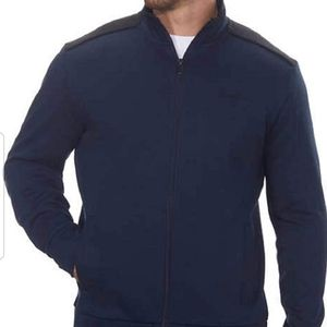 Calvin Klein Men's Lightweight Jacket, BLUE  Full
